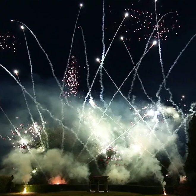 Aerosmith Wedding Fireworks Pyromusical, Derbyshire 2016