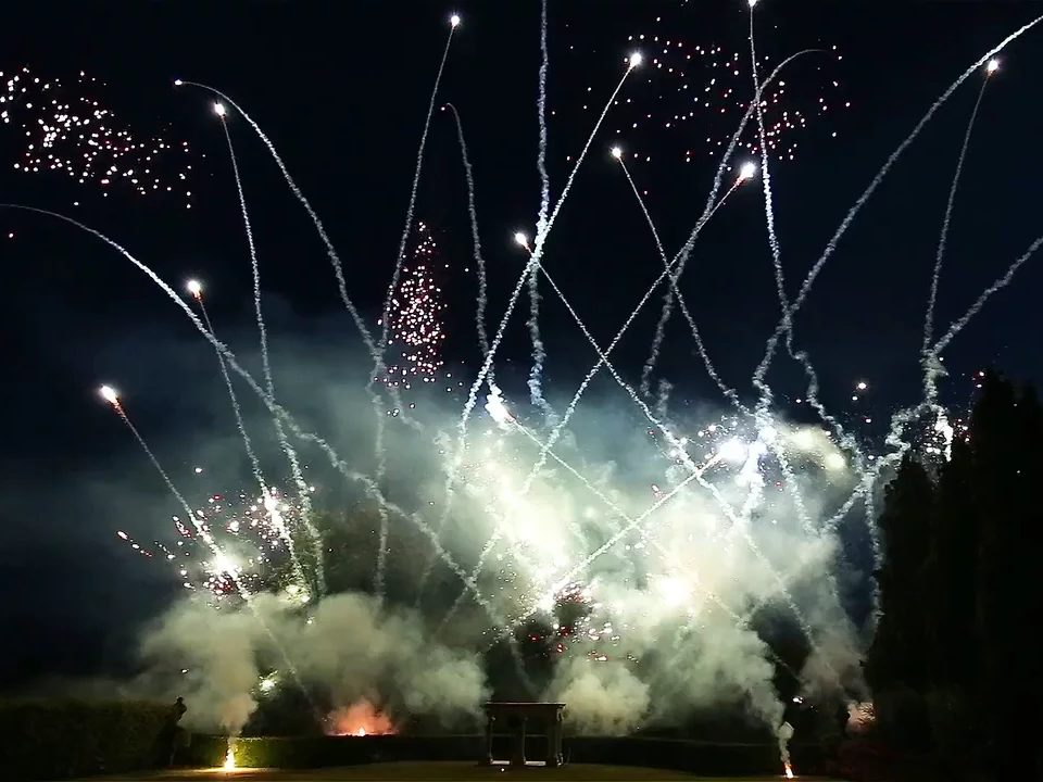 Aerosmith Wedding Fireworks Pyromusical, Derbyshire 2016