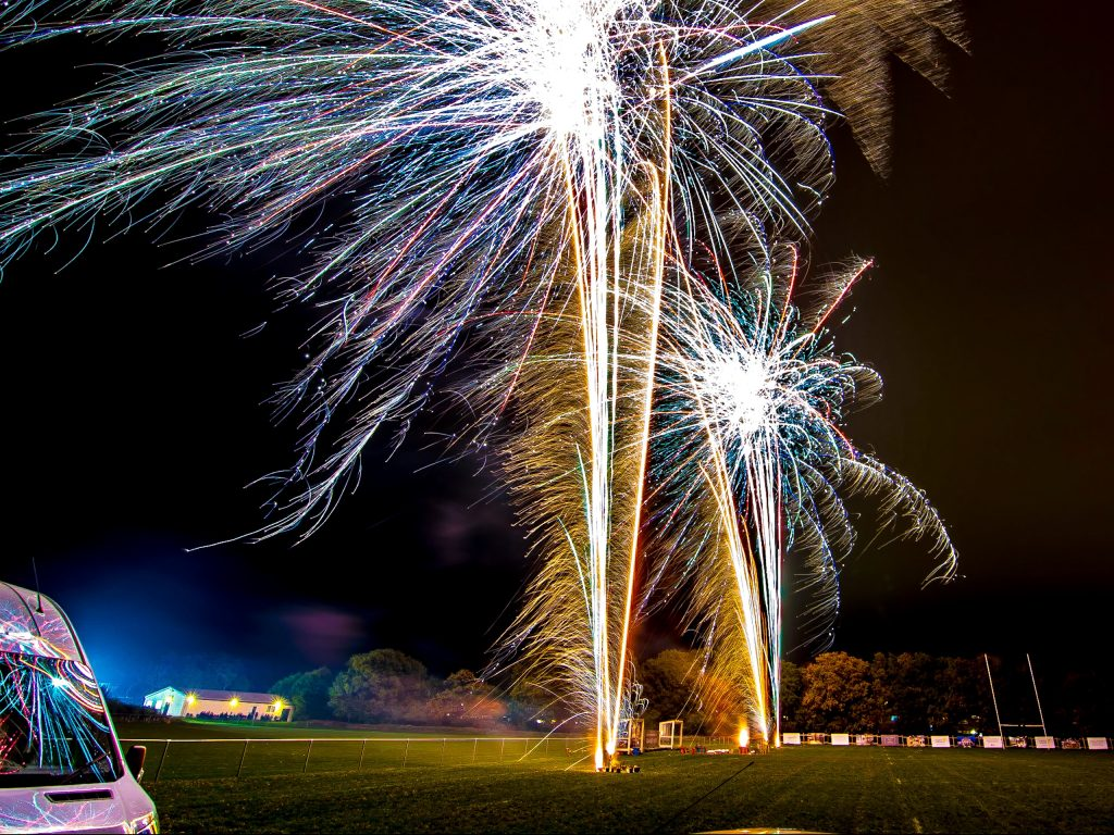 Professional Fireworks Display at Far Moss Sports Ground, Leeds, November 2018 (Photo © Andrew Hunt)
