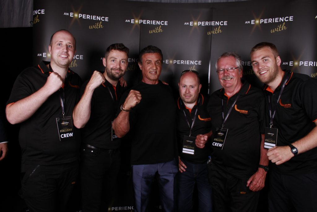 Ignite Pyrotechnics Display Team Photo With Sylvester Stallone